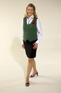 Damenweste, schützengrün 036