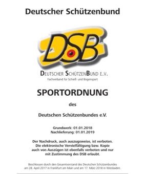 Ergänzung zur Sportordnung des DSB