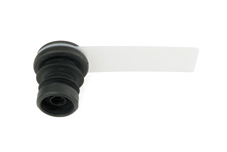 Flexible Gummiblende  mit  Abdeckscheibe schwarz