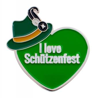 """PIN """"I Love Schützenfest"""" grün"""
