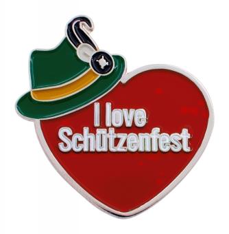 """PIN """"I Love Schützenfest"""" rot"""