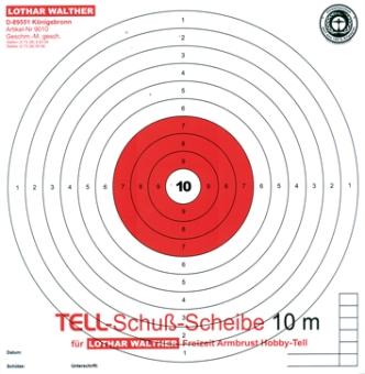 TELL-Schussscheibe für Armbrust 10 m