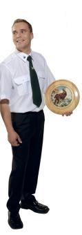 Stelljes-Schützenhemd mit eingesticktem Schützensymbol, bügelleicht