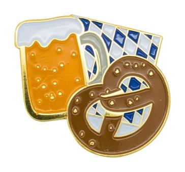 "Oktoberfest PIN ""Brezel und Bier"""